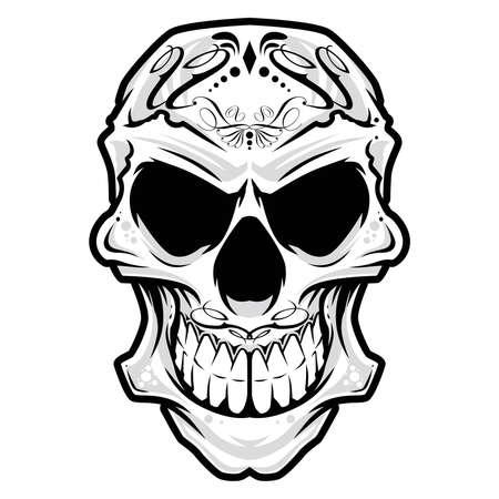 bandana western: Skull head ornament