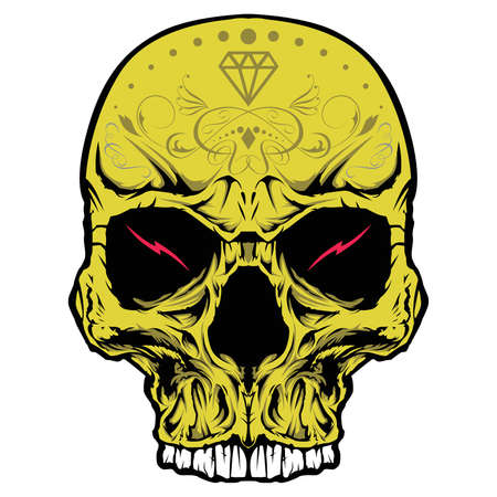 gang: Skull head ornament