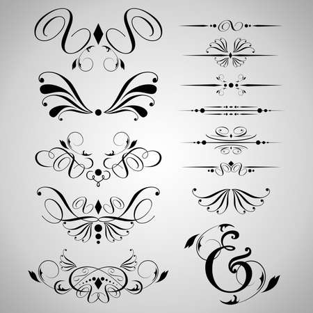 Design Element Floral Ornament  Vector