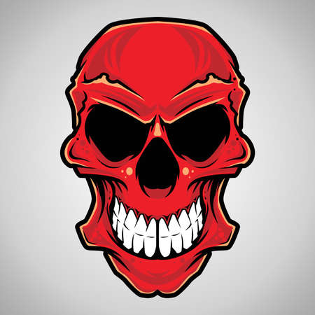 Vector Illustration   Decorative Skull Head  Vector