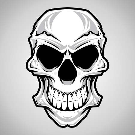 skull tattoo: Vector Illustration   Skull  Illustration