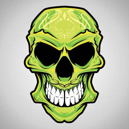 tete de mort: Cr�ne Illustration Vecteur d�coratif