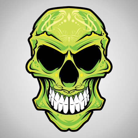 skull tattoo: Vector Illustration   Decorative Skull