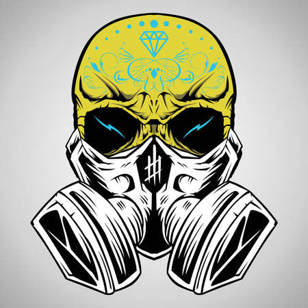 skull and flowers: Cr�neo de ilustraci�n vectorial Vectores