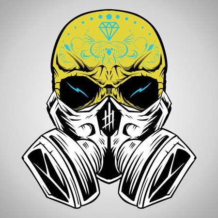 tete de mort: Illustration Vecteur de cr�ne
