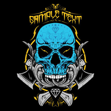 the gothic style: Skull Vector Illustration