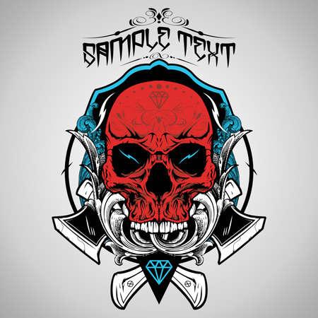 skull vector: Skull Vector Illustration