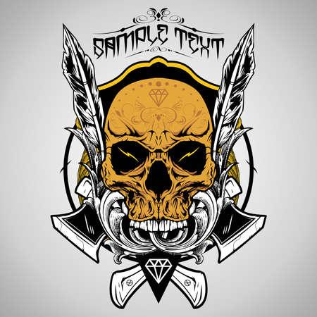 skull: Illustration Vecteur de cr�ne