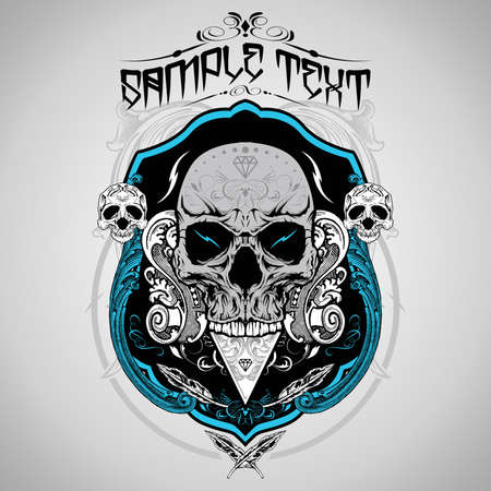 rose: Skull Vector Illustration