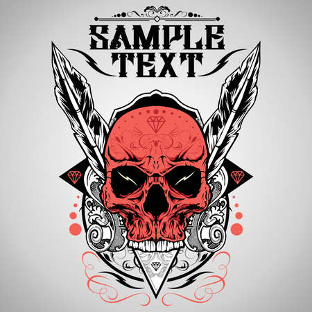 Skull Vector Illustration  Vector