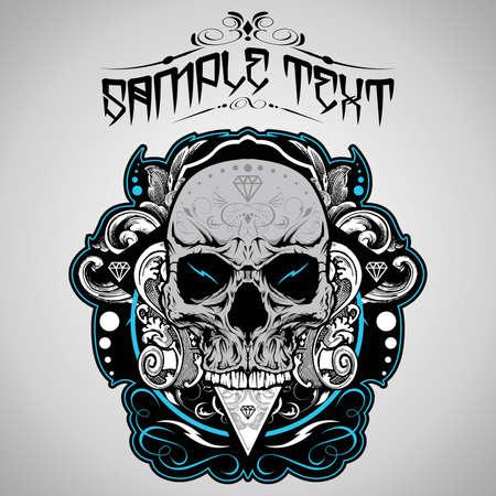 evil: Skull Vector Illustration