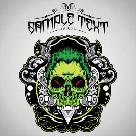 tattoo skull: Skull Vector Illustration