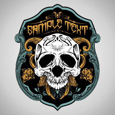 skull vector: Vector Illustration : Skull T-shirt design logos  Illustration