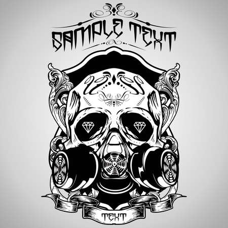 skull tattoo: Vector Illustration : Skull  Illustration