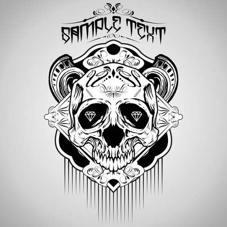 Vector Illustration : Skull  Stock Vector - 18678148