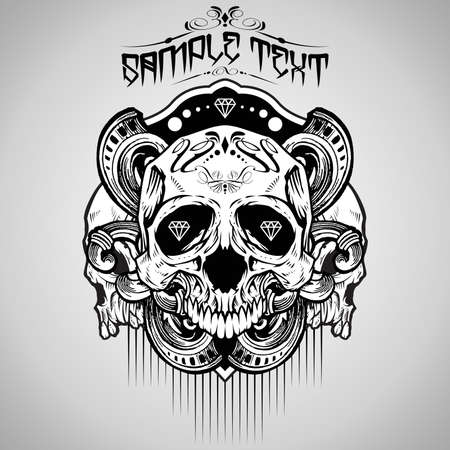 Vector Illustration : Skull  Vector
