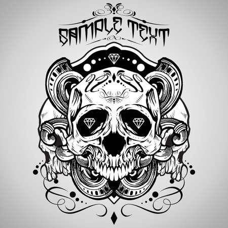 Vector Illustration : Skull  Vector