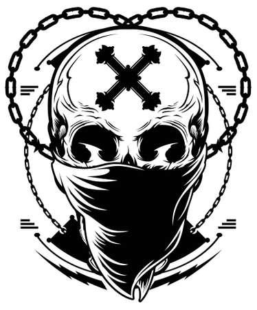 skull drawing: Skull Gangster Illustration