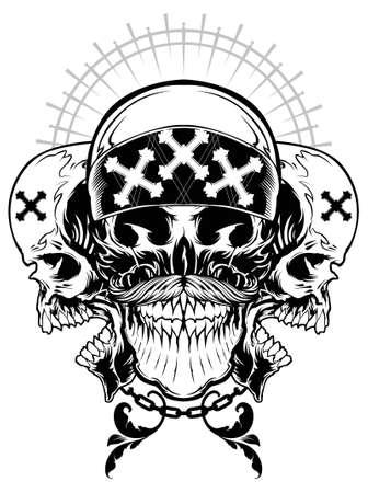 gothic design: Skull Gangster Illustration