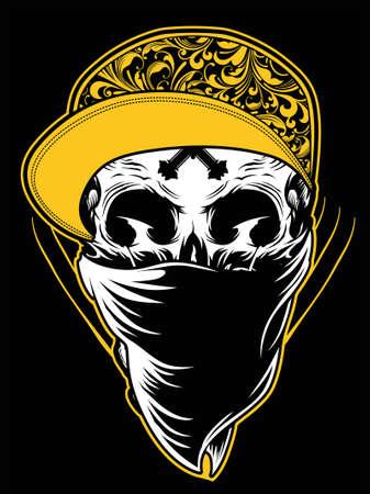 頭蓋骨のギャングの図  イラスト・ベクター素材