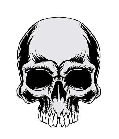 skull tattoo: Vector Illustration : Skull