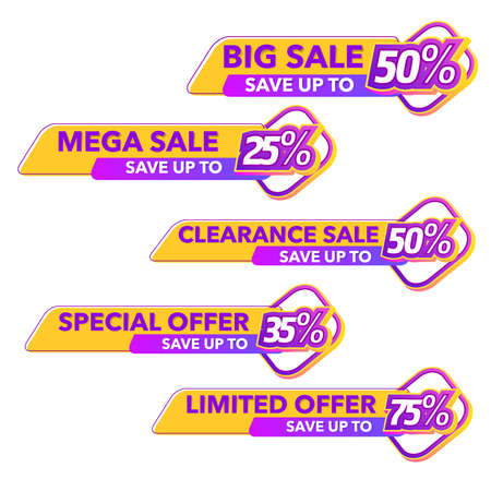 Sale of Special Offers and Discount Gradient Banner Template Vector Design Ilustración de vector