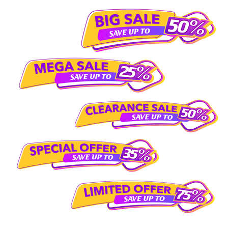 Sale of Special Offers and Discount Gradient Banner Template Vector Design