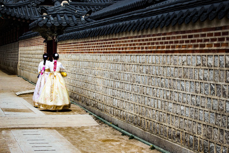 Korean Traditional Girl Banque d'images - 115310503