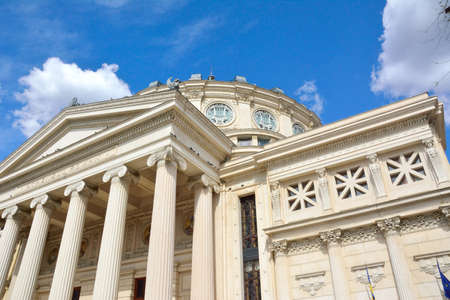 neoclassic: Architectural details of Romanian Opera, Bucharest, Romania Editorial