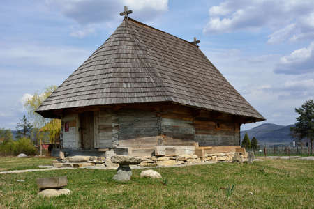 romanian: Old romanian traditional wooden church