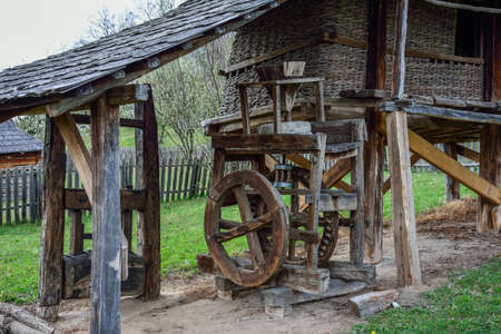 gristmill: Old wooden corn mill