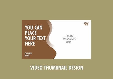 Colorful and unique of editable video thumbnail design Vektorové ilustrace