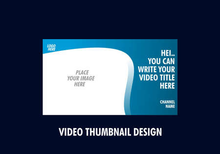 Colorful and unique of editable video thumbnail design