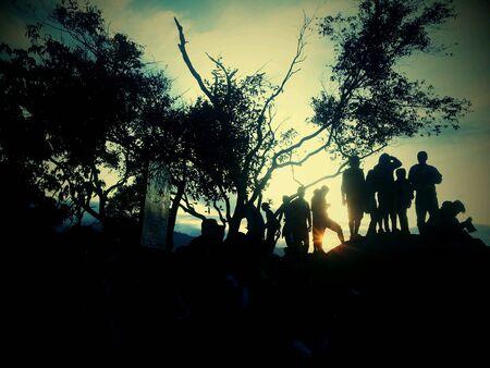 Broga hill at sunrise in lomo colour