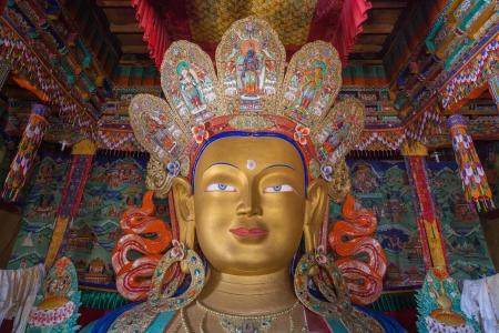 ladakh: Maitreya Buddha, Thiksey Gompa, Ladakh Stock Photo