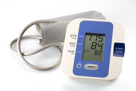 blood pressure cuff: Modern electronic blood pressure equipment Stock Photo
