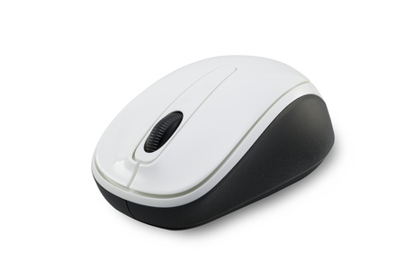 scrollwheel: a computer mouse on a white background Stock Photo