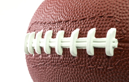 superbowl: A particular of an American Football Ball Stock Photo