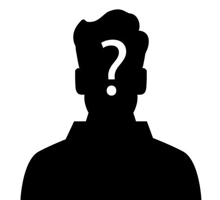 businesspeople: Businesspeople icon with question mark sign Illustration