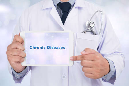 Diagnosis - Chronic Diseases. Medical Concept Stock Photo