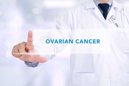 surgical removal: OVARIAN CANCER CONCEPT Medicine doctor hand working Stock Photo