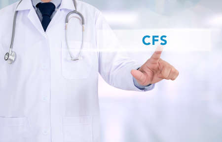 consolidated: CFS CONCEPT (Consolidated Financial Statement) Medicine doctor working with computer interface as medical