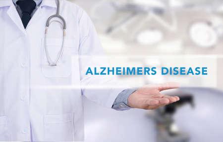 alzheimers: Alzheimers Disease concept Medicine doctor hand working Stock Photo