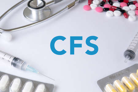 consolidated: CFS CONCEPT (Consolidated Financial Statement) Text, On Background of Medicaments Composition, Stethoscope, mix therapy drugs doctor
