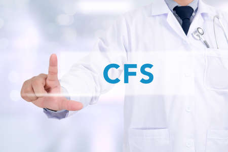 financial statement: CFS CONCEPT (Consolidated Financial Statement) Medicine doctor hand working Stock Photo