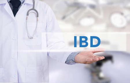 IBD - Inflammatory Bowel Disease. Medical Concept Medicine doctor hand working Stock Photo