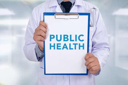 medical bill: PUBLIC HEALTH CONCEPT   Portrait of a doctor writing a prescription
