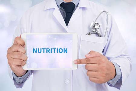nutrition doctor: NUTRITION Doctor holding  digital tablet