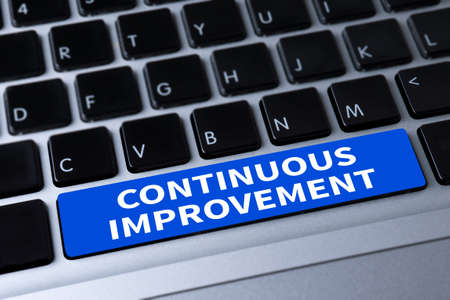 refinement: CONTINUOUS IMPROVEMENT a message on keyboard