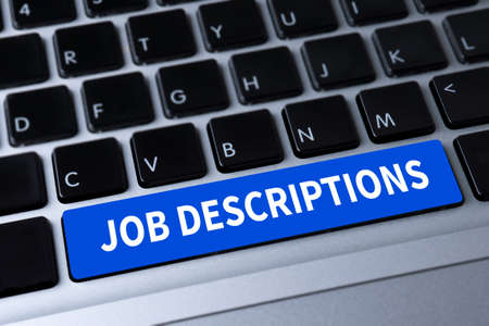 job descriptions: JOB DESCRIPTIONS a message on keyboard